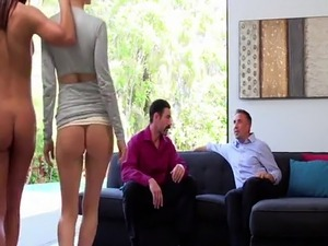 Swingers swap wives cum and squirt