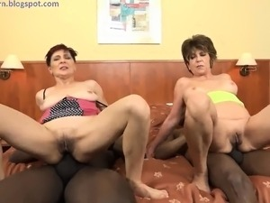 Two mature group anal BBC orgy