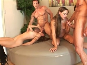 Fantastic group sex with Aiyana Flora, Zoey Foxx and Teagan Tate
