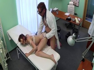 Amateur patient doggystyled by her doctor