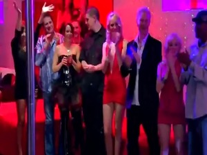 Swingers enjoying stripping party in reality