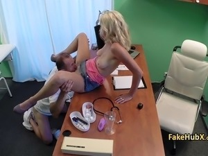 Tanlined milf fucks doctor in hospital