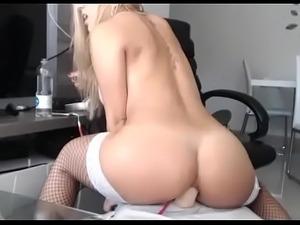 Hottest blonde rides her ass with big dildo live cam - camtocambabe.com