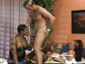 African Slut Gets Double Penetration By White Cocks