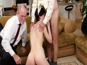 Anal then cumshot and mature couple swinger Frannkie heads down the