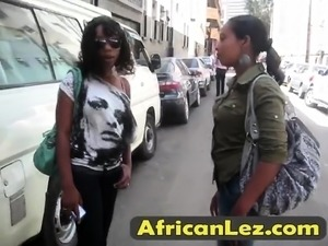 African lesbos Juliette and Anita fingering cunts