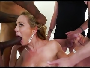 Busty Blonde Milf CDv Hardcore Anal Gangbang