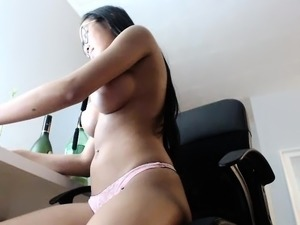 Asian Mom In White Top Pulls Out Her Big Boobs