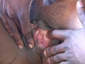 Horny chick riding big black cock
