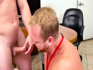 Old man ass gay sex First day at work