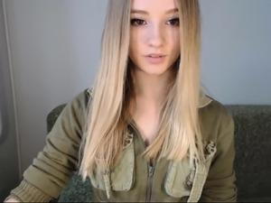 pretty blonde teen flashes tits on webcam - viewcamgirls,com