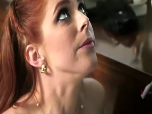 Sexy redhead Penny Pax cums all over Shane Diesel's big black dick