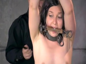 Submissive beauty whipped and pussy dildoed
