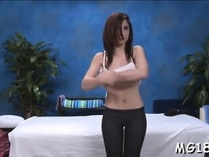 Sexy babe is often charging for sensual massage sessions