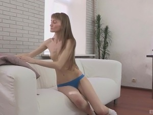 Skinny lady Vasilisa cannot resist a hunk's engorged prick