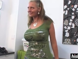 Beautiful MILF in high heels gets her juicy cunt penetrated in various...