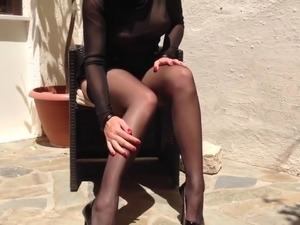 hot german babe anett larman in nylons