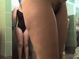Group of girls and hidden spy cam