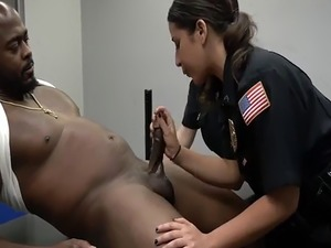 Huge black cock anal and girl reality first time Milf Cops