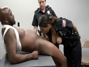 Milf prostate milking and black booty orgy xxx Milf Cops