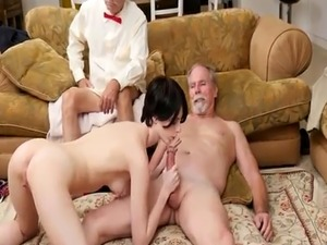 Old man eats ass and anal first time Frannkie heads down the Hersey hi