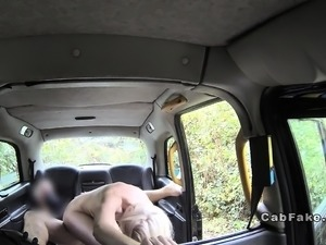 Blonde anal fucked on the cabs bonnet