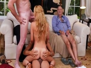 Old hot sex and grandpa cumshots Frannkie And The Gang Tag Team A Door