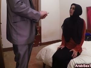 Sexy and nasty Arab hoe rides fat cock like a pro