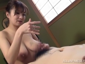 Fantastic titjob action with big-breasted Asian mom Mio Takahashi
