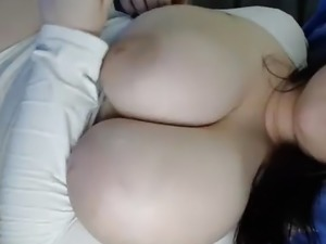 #2 BBW curvy busty brunette big natural boobs