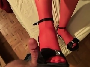 Foot fetish babes tie up