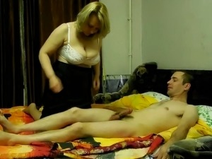 Cheating blonde housewife gives me head and then rides me on top