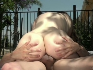 Four eyed coed Jay Taylor sucks her lover's dick with extreme energy