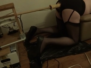 Crossdresser Training into anal adiction