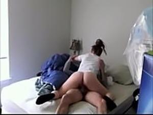 Swedish girlfriend riding dick on hidden cam