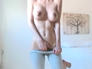 Hairy Pussy Webcam Girl with Big Boobs