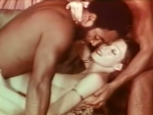 Two black guys drilling tight pussy of a cute redhead babe