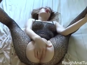 Teen gets assfuck and cum in her mouth by her boyfriend
