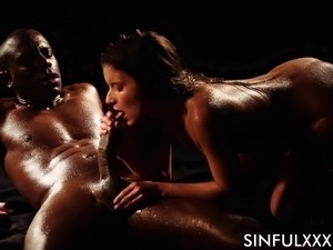Anita tight pussy logged with big black cock hardcore