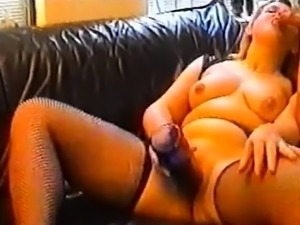 Babes in Stockings Masturbating with Sex Toys
