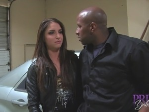 Giselle Leon is happy to open her legs for a black hunk