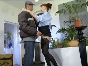 Naughty white redhead German milf likes to be pissed