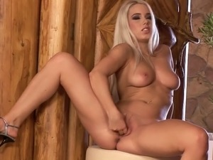 Blonde babe Kady is all tits and curves as she fucks her pussy