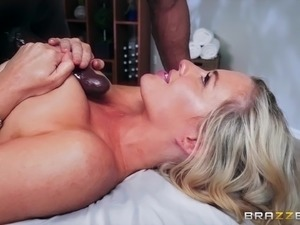 Brown dick slamming the juicy pussy of lustful Jessica Ryan