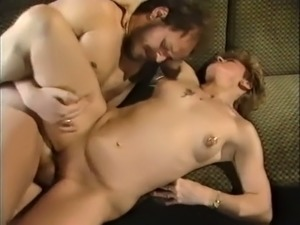 Incredible German white milf having wild sex on the couch