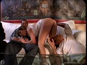 Lecherous wife gets her anal banged hardcore as cuckold hubby watches