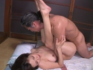 This beautiful Japanese babe is a sex machine and she's got a nice hairy pussy