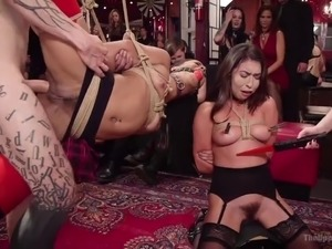 Folsom Orgy Gets Soaked by Squirting Nympho Slave Slut