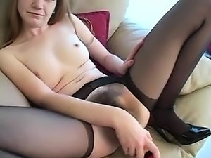 Big clitted amateur toys her hairy cunt