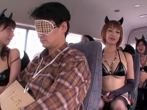 Kinky Japanese people going to a costume party to get with other kinky people